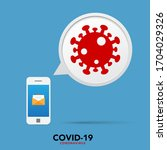 sign caution coronavirus. stop...   Shutterstock .eps vector #1704029326