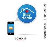 sign caution coronavirus. stop...   Shutterstock .eps vector #1704029329