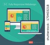 responsive web design   flat... | Shutterstock .eps vector #170403218