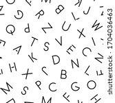 vector simple seamless alphabet ... | Shutterstock .eps vector #1704036463