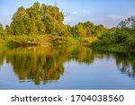 river  trees. pripyat river in...   Shutterstock . vector #1704038560