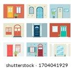 building front entrance...   Shutterstock .eps vector #1704041929