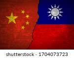 china vs taiwan flag vector... | Shutterstock .eps vector #1704073723