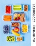 healthy snack on a pastel... | Shutterstock . vector #1704088519