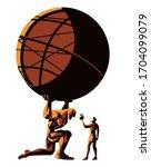 greek mythology titan atlas... | Shutterstock .eps vector #1704099079