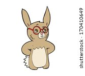 cartoon rabbit wearing... | Shutterstock . vector #170410649