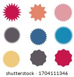 set of vector starburst ... | Shutterstock .eps vector #1704111346