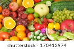 fruits and vegetables   Shutterstock . vector #170412974