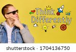 think differently concept  ... | Shutterstock . vector #1704136750