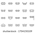 mask set line icons in flat... | Shutterstock .eps vector #1704150109