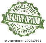 healthy option green grunge...   Shutterstock . vector #170417933