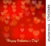 valentine's day background with ... | Shutterstock . vector #170420684