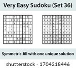 vector sudoku puzzle with... | Shutterstock .eps vector #1704218446