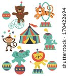 Cute Circus Animals Collection...