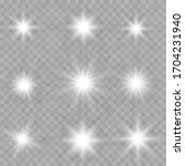 white glowing light explodes on ... | Shutterstock .eps vector #1704231940