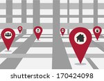 abstract city map illustration | Shutterstock . vector #170424098