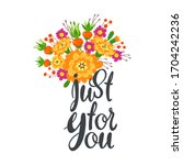 just for you flat vector...   Shutterstock .eps vector #1704242236
