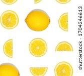 pattern with lemon fruits....   Shutterstock . vector #1704246613