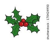 cartoon holly | Shutterstock . vector #170424950