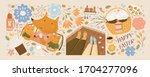 happy easter  set of... | Shutterstock .eps vector #1704277096