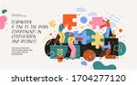 teamwork. modern vector... | Shutterstock .eps vector #1704277120