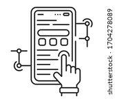 app development black line icon....