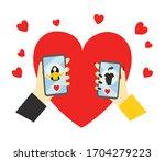 dating app using vector...   Shutterstock .eps vector #1704279223