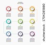 business data visualization.... | Shutterstock .eps vector #1704285880