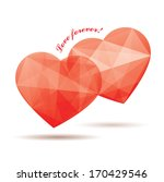 two red crystal hearts | Shutterstock .eps vector #170429546