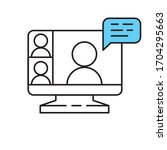 computer screen icon with a... | Shutterstock .eps vector #1704295663