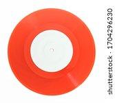 seven inch single 45rpm red...   Shutterstock . vector #1704296230