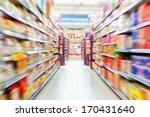 Empty Supermarket Aisle  Motio...