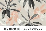 foliage seamless pattern ... | Shutterstock .eps vector #1704340306