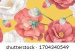 floral seamless pattern  white... | Shutterstock .eps vector #1704340549