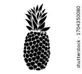 illustration of pineapple in... | Shutterstock .eps vector #1704350080