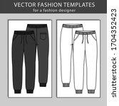 sweatpants fashion.  flat... | Shutterstock .eps vector #1704352423