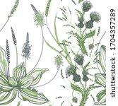 seamless pattern of plantain...   Shutterstock .eps vector #1704357289