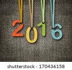 happy new year 2016   numbers... | Shutterstock . vector #170436158