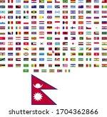 flags of the world. world flag... | Shutterstock .eps vector #1704362866