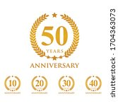 set anniversary logo vector...   Shutterstock .eps vector #1704363073