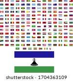 flags of the world. world flag... | Shutterstock .eps vector #1704363109