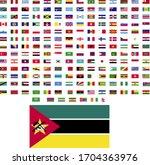 flags of the world. world flag... | Shutterstock .eps vector #1704363976