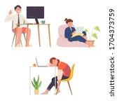 vector illustration of people... | Shutterstock .eps vector #1704373759