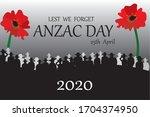 Anzac Day 2020 Vector Art