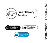 free shipping delivery with... | Shutterstock .eps vector #1704389659
