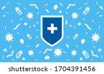 immune system concept. hygienic ... | Shutterstock .eps vector #1704391456