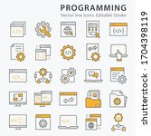 programming icons  such as... | Shutterstock .eps vector #1704398119