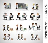 business peoples   isolated on... | Shutterstock .eps vector #170439923