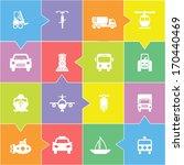 transportation icon set on gray   Shutterstock .eps vector #170440469