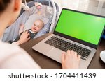 Young Mom Shopping Online On...